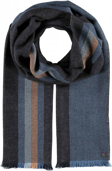 Scarf with stripes design in polyester blend - Made in Germany