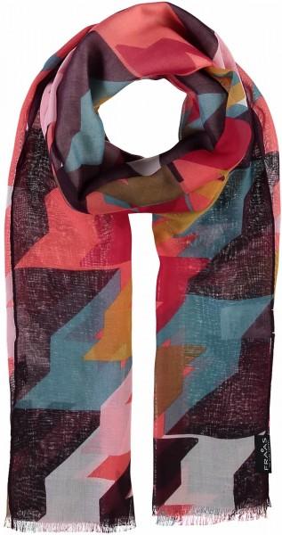 Schal mit Hahnentritt-Print aus Polyester