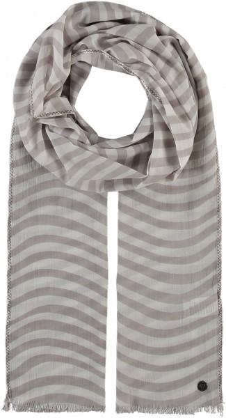 Gestreifter Schal aus Baumwolle