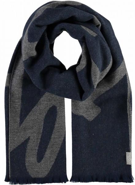 Schal mit Schriftzug-Design aus reinem Kaschmir - Made in Germany