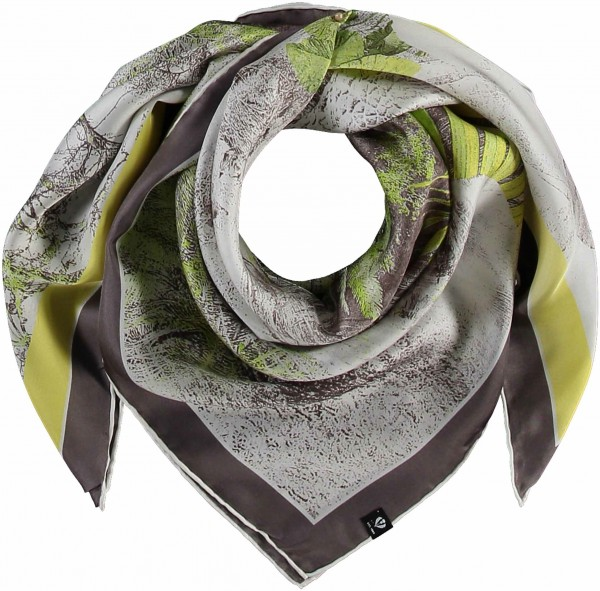 Scarf made of pure silk in ethnic style