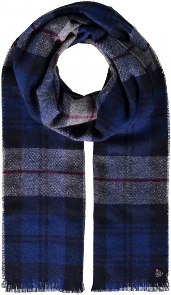 Pure cashmere scarf with FRAAS Plaid - Made in Germany