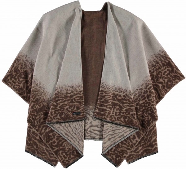 Cashmink®-Poncho mit Animal Print - Made in Germany