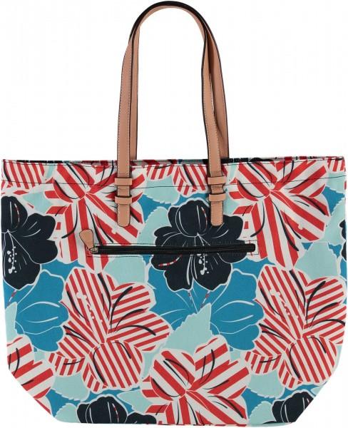 Strandtasche mit Floral-Print aus reinem Polyester