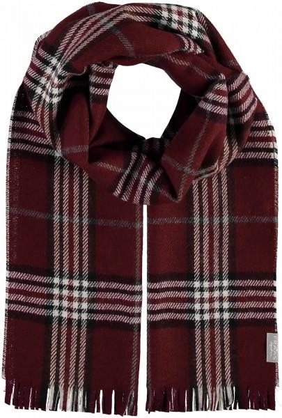 Schal mit Karo-Design in Schurwollmischung - Made in Germany