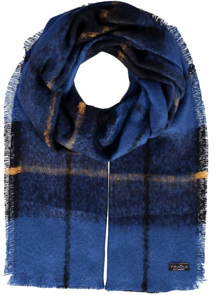 Cashmink® stole with tartan check - Made in Germany