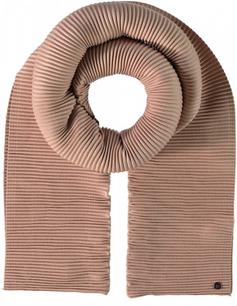 Scarf with accordion pleats in a viscose blend