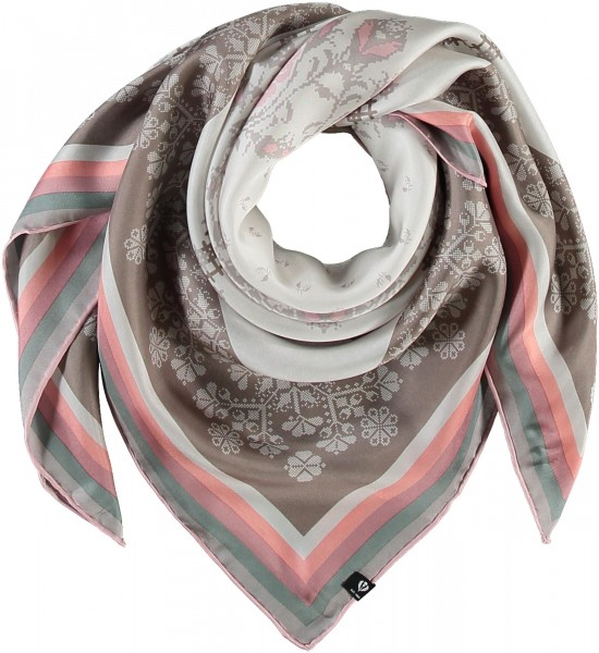 Floral scarf made of pure silk