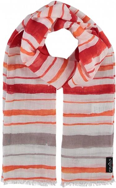 Schal mit Grafik-Design in Baumwollmischung , Made in Italy
