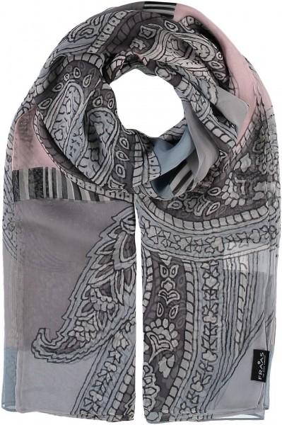 Stola mit Paisley-Print aus reiner Seide