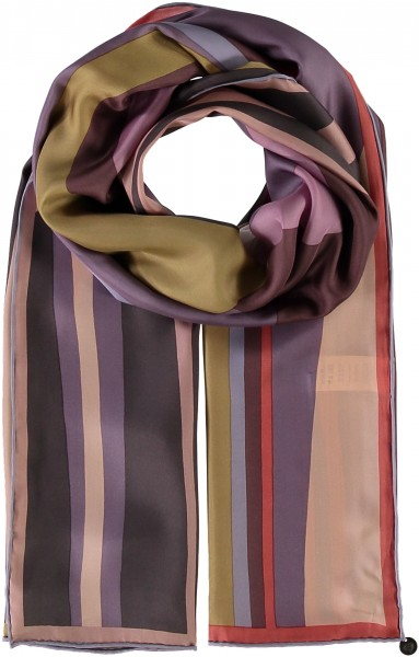 Pure silk scarf with pattern