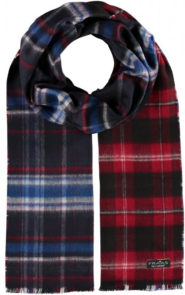 Cashmink® scarf with doubleface plaid design - Made in Germany