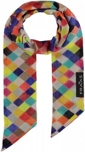 Schal mit Grafik-Print in Baumwollmischung