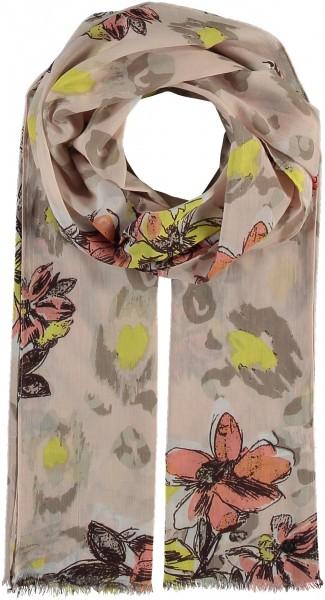 Schal aus Baumwolle mit floralem Print