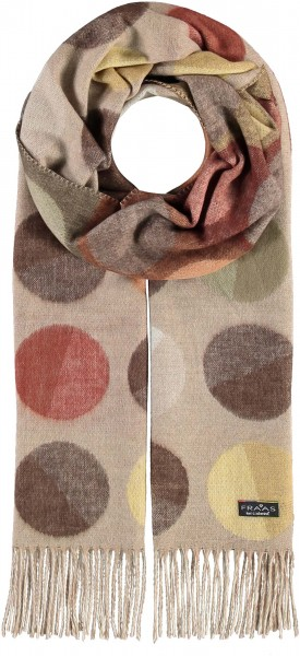 Cashmink® Scarf with XXL Dots - Made in Germany