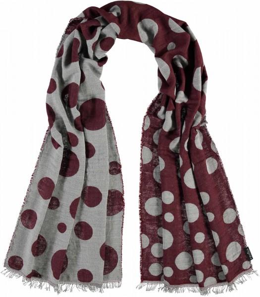Schal mit Punkte-Design in Viskosemischung - Made in Italy