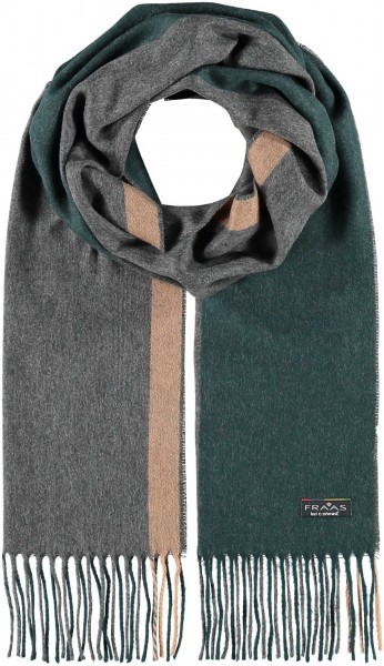 Cashmink® scarf with stripe design - Made in Germany