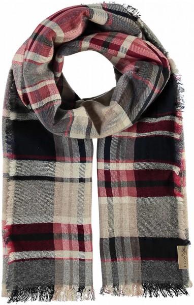 Schal mit Karo-Design in Wollmischung