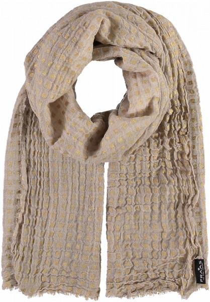 Schal im Metallic-Print aus reiner Wolle