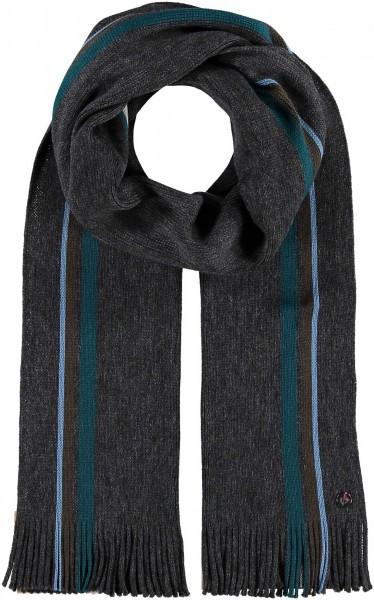 Schal mit Streifen-Design aus reiner Wolle