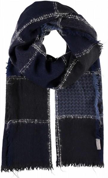 Schal mit Grafik-Design aus reiner Schurwolle - Made in Germany