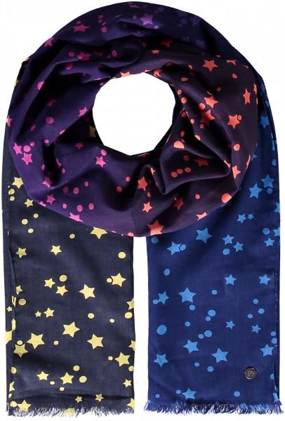 Schal mit Sternen-Print aus reiner Baumwolle