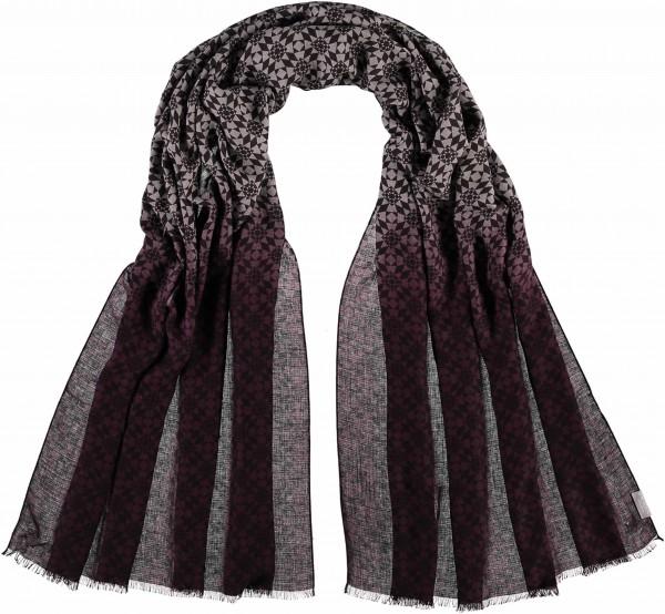 Schal mit Grafik-Print in Kaschmirmischung - Made in Italy