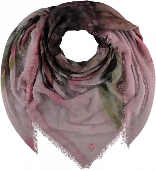 Sustainability Edition - Floral scarf in recycled polyester