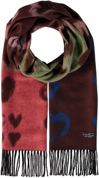 Cashmink®-Schal im Herzchen-Design - Made in Germany