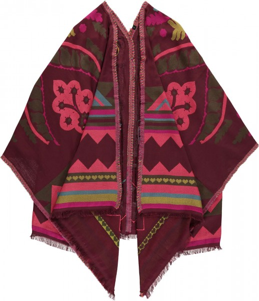 Limitierte Upcycling Edition - Poncho aus reiner Wolle