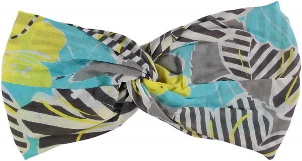 Stirnband mit Floral-Print aus reiner Baumwolle