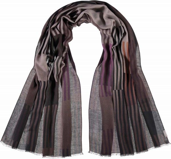 Scarf with graphic print in a modal blend – Made in Italy