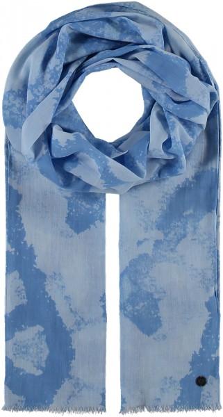 Schal aus Baumwolle mit Grafik-Print