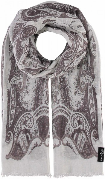 Schal mit Paisley-Design in Baumwollmischung , Made in Italy