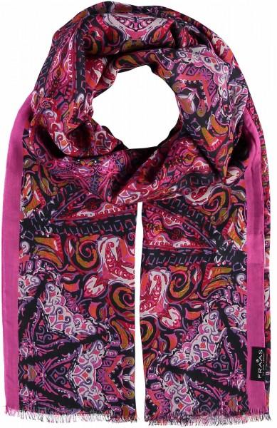 Schal mit Paisley-Print aus reiner Viskose - Made in Italy