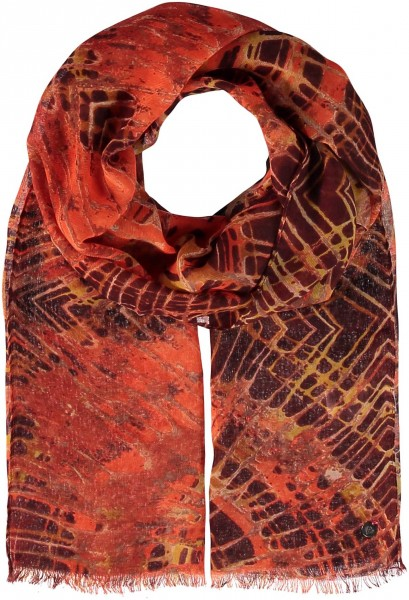 Polyester scarf with orient print