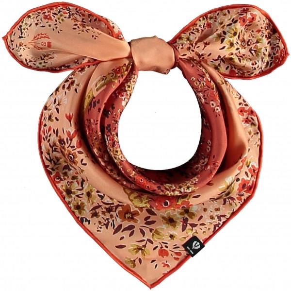 Nickituch aus reiner Seide mit floralem Print