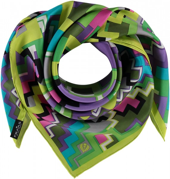 Tuch mit Grafik-Print aus reiner Seide
