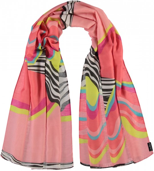 Pure polyester stole with graphic print