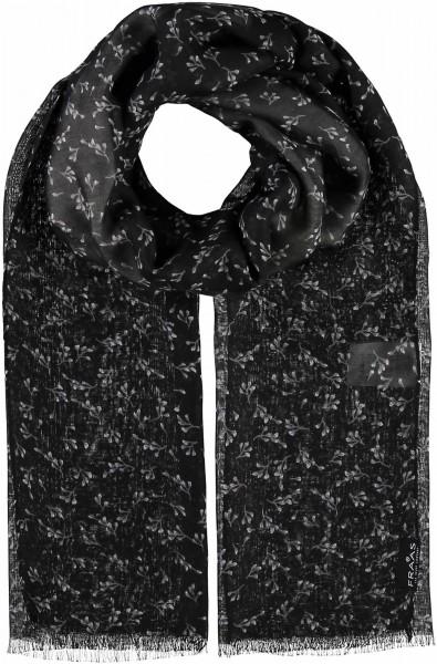 Schal mit Schwarz/Weiß-Print aus Polyester