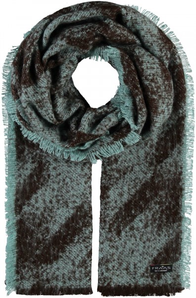 Cashmink® stole with houndstooth pattern - Made in Germany