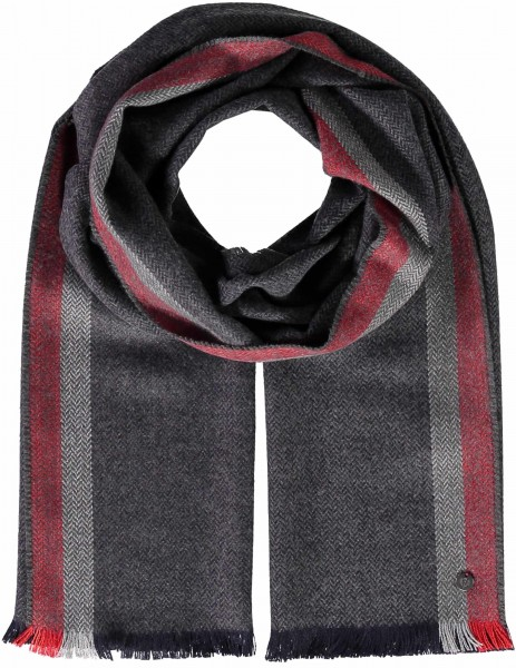 Scarf with stripe edge print made in polyester