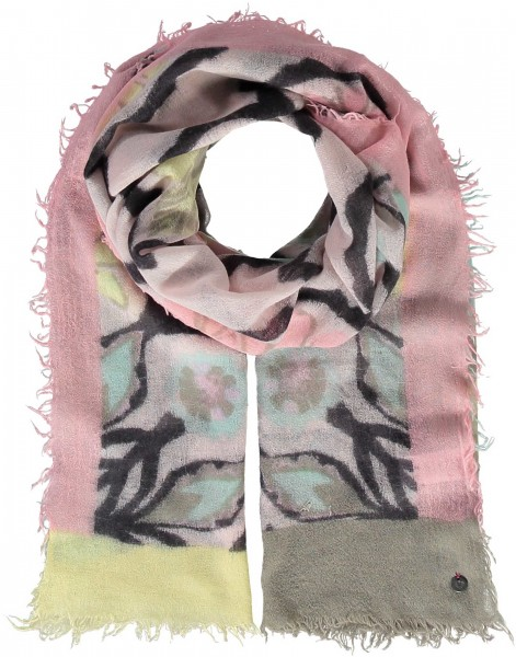 Pure wool stole with graphic print