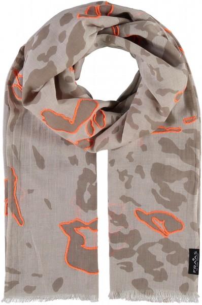 Schal mit Animal-Print aus reiner Baumwolle