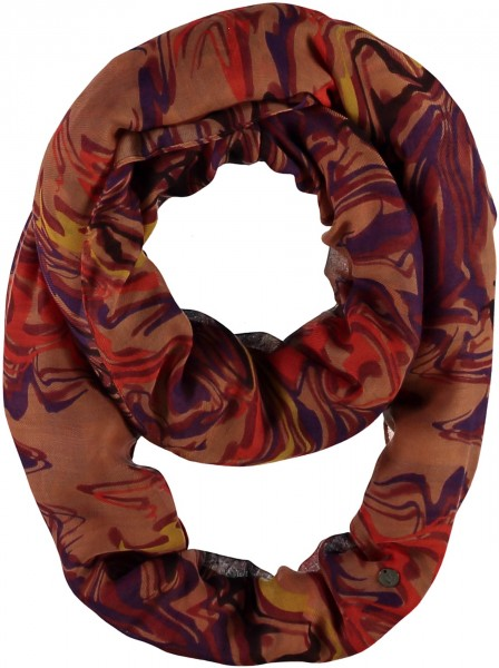 Snood with graphic print made of polyester