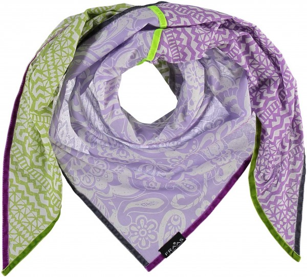 Pure cotton square with patchwork