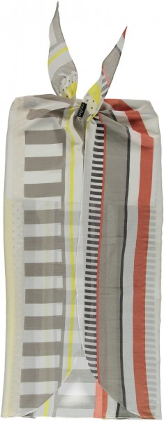Pareo mit Grafik-Print aus reiner Baumwolle