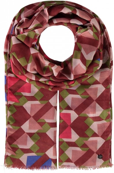 Graphic print stole made of polyester