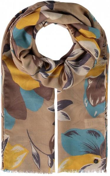 Stola aus Polyester mit Blumen-Druck