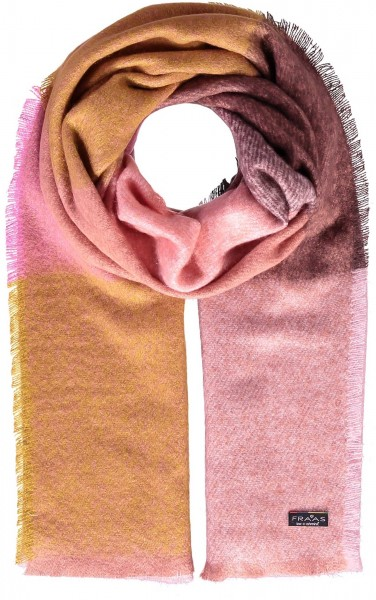 Cashmink® stole with check design - Made in Germany